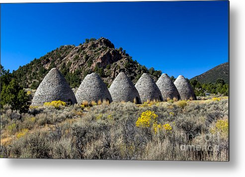 Ward Charcoal Ovens State Historic Park Metal Print featuring the photograph Wards Charcoal Ovens by Robert Bales