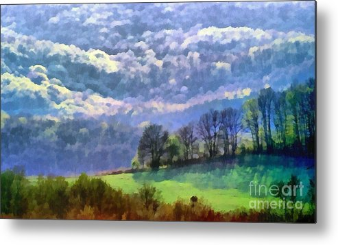 Odon Metal Print featuring the painting Landscape by Odon Czintos