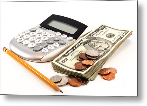 Pen Metal Print featuring the photograph Personal Finance And Accounting by Blink Images