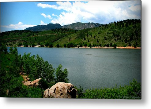 Horsetooth Reservoir Metal Print featuring the photograph Horsetooth Reservoir Summer by Aaron Burrows