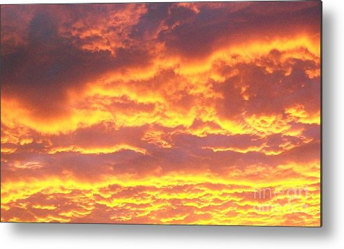 Photo Metal Print featuring the photograph Sun On The Clouds by Marsha Heiken