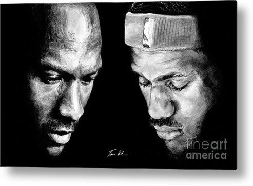 Lebron James Metal Print featuring the drawing The Next One by Tamir Barkan