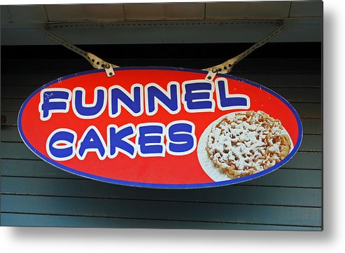 Fair Metal Print featuring the photograph Funnel Cakes by Skip Willits