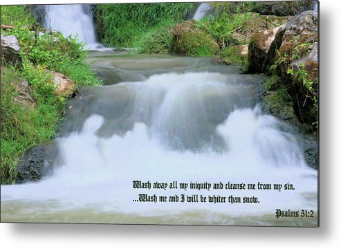 Waterfall Metal Print featuring the photograph Psalm 51 2 by Kristin Elmquist