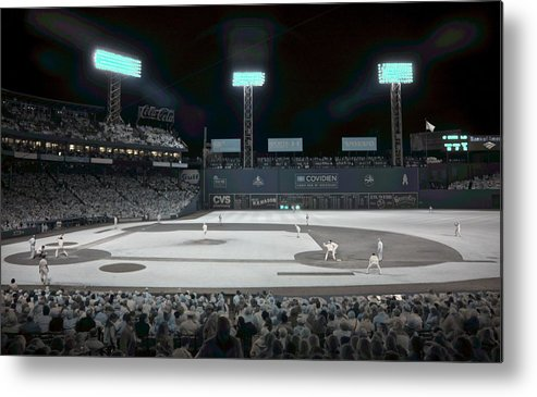 Ballpark Metal Print featuring the photograph Fenway Infrared by James Walsh