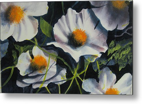 Floral Metal Print featuring the painting More Poppies by Robert Carver