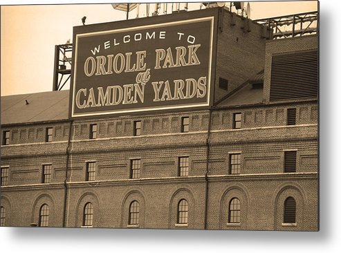 America Metal Print featuring the photograph Baltimore Orioles Park At Camden Yards by Frank Romeo