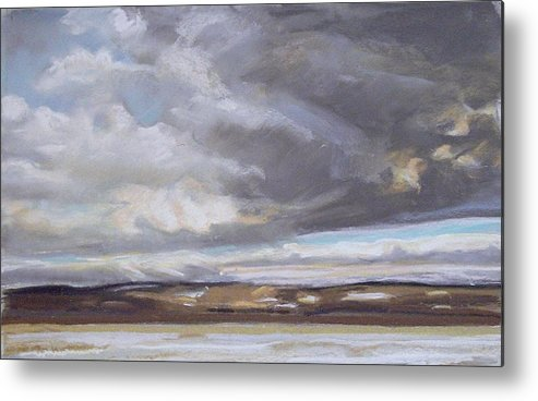 Maine Metal Print featuring the pastel Blessed Light by Grace Keown