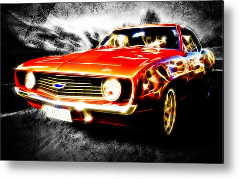 Red Camaro Metal Print featuring the photograph Camaro'd by Phil 'motography' Clark