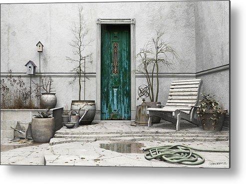 Garden Metal Print featuring the digital art Winter Garden by Cynthia Decker
