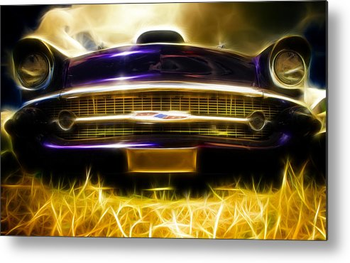 Chevrolet Metal Print featuring the photograph 1957 Chevrolet Bel Air by Phil 'motography' Clark