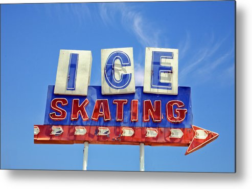 Signs Metal Print featuring the photograph Ice Skating by Matthew Bamberg