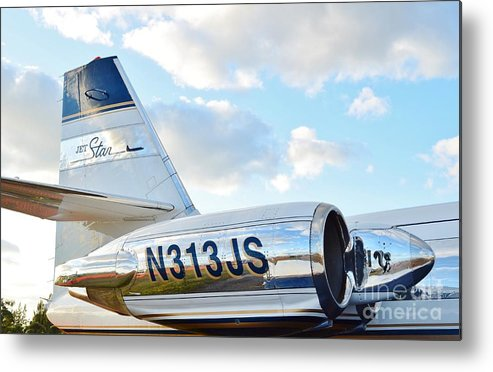 Lockheed Metal Print featuring the photograph Lockheed Jet Star by Lynda Dawson-Youngclaus