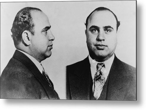 History Metal Print featuring the photograph Al Capone 1899-1847, Prohibition Era by Everett