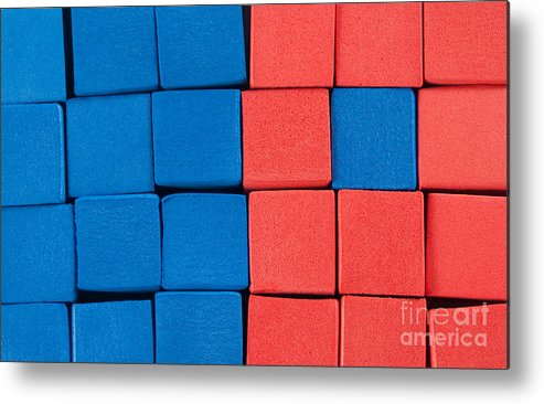 Blue Metal Print featuring the photograph Blue And Orange by Dan Holm