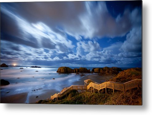 Bandon Metal Print featuring the photograph Bandon Nightlife by Darren White