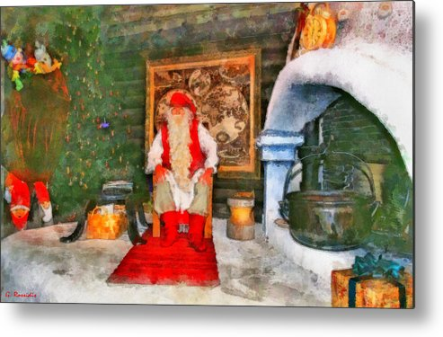 Rossidis Metal Print featuring the painting Santa Claus by George Rossidis