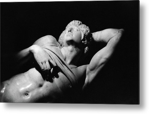 The Dying Slave Metal Print featuring the photograph The Dying Slave by Michelangelo Buonarroti