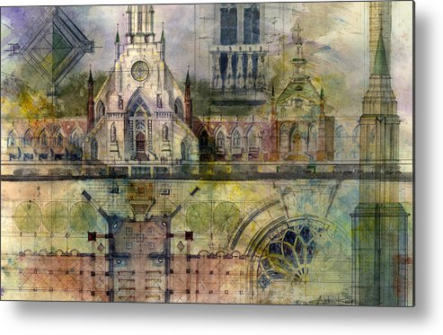 Gothic Metal Print featuring the painting Gothic by Andrew King