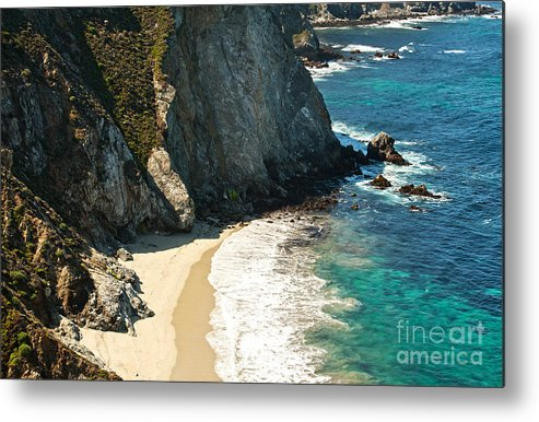 Point Lobos Metal Print featuring the photograph China Cove At Point Lobos State Beach by Artist and Photographer Laura Wrede
