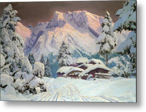 Austrian Metal Print featuring the painting Hocheisgruppe by Alwin Arnegger