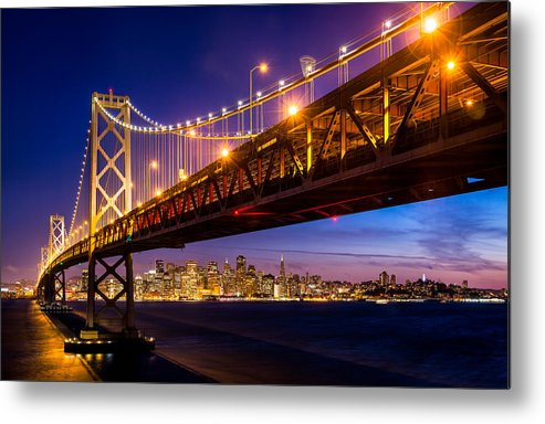 San Francisco Metal Print featuring the photograph San Francisco - Under The Bay Bridge by Alexis Birkill