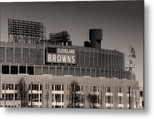 Cleveland Metal Print featuring the photograph The Hometeams by Kenneth Krolikowski