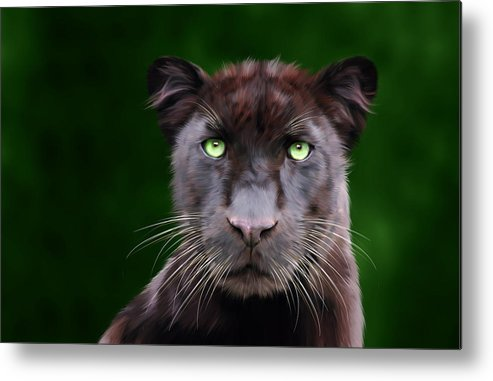 Saber Metal Print featuring the digital art Saber by Big Cat Rescue