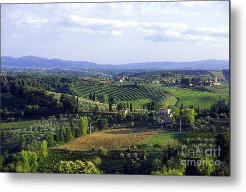 Chianti Metal Print featuring the photograph Chianti Region In Italy by Gregory Ochocki and Photo Researchers