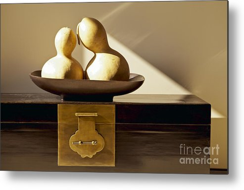 Art Metal Print featuring the photograph Gourds Still Life II by Kyle Rothenborg - Printscapes
