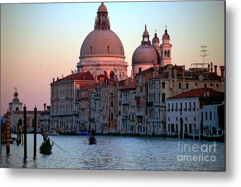 Venice Metal Print featuring the photograph Santa Maria Della Salute On Grand Canal In Venice In Evening Light by Michael Henderson