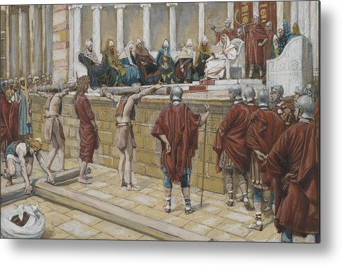 Tissot Metal Print featuring the painting The Judgement On The Gabbatha by Tissot