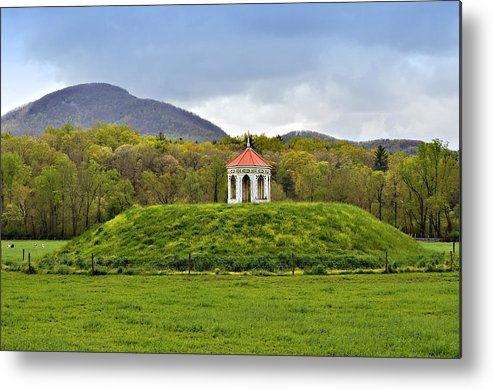 Mound Gazebo Indian Mountains Metal Print featuring the photograph Nacoochee Indian Mound by Susan Leggett