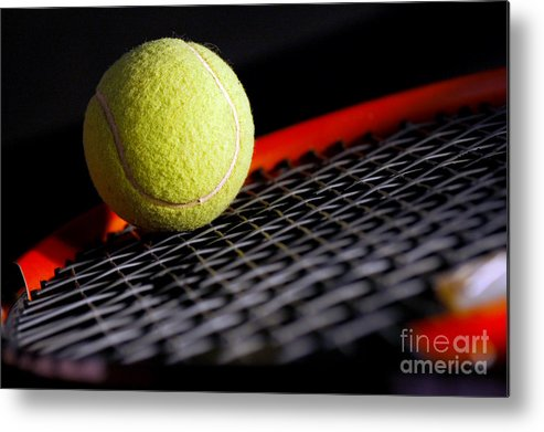 Accessory Metal Print featuring the photograph Tennis Equipment by Michal Bednarek