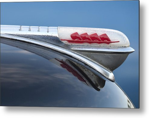 1947 Plymouth Metal Print featuring the photograph 1947 Plymouth Hood Ornament by Jill Reger