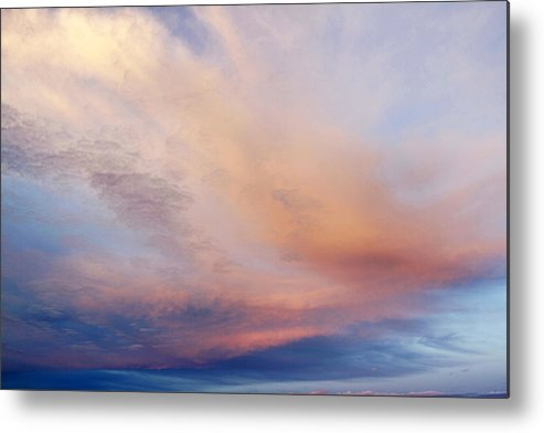 Abstract Metal Print featuring the photograph Clouds by Les Cunliffe
