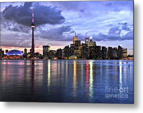 Toronto Metal Print featuring the photograph Toronto Skyline by Elena Elisseeva