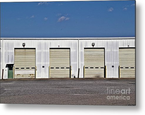 6 7 8 9 Warehouse Not In Use Now This Is A Very Large Trucking Opeation Metal Print featuring the photograph 6 7 8 9 Warehouse by JW Hanley
