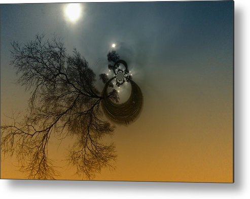 Abstract Metal Print featuring the photograph A Tree In The Sky by Jeff Swan