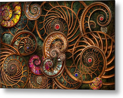 Steampunk Metal Print featuring the photograph Abstract - The Wonders Of Sea by Mike Savad
