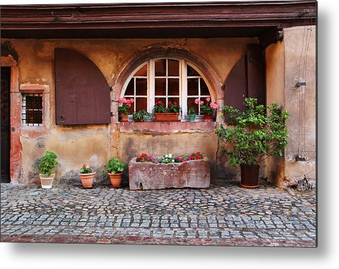 Alsace Metal Print featuring the photograph Alsatian Home In Kaysersberg France by Greg Matchick