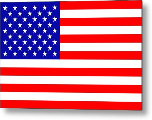 America Metal Print featuring the mixed media American Flag by Toppart Sweden