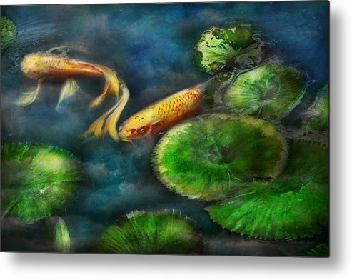 Savad Metal Print featuring the photograph Animal - Fish - The Shy Fish by Mike Savad