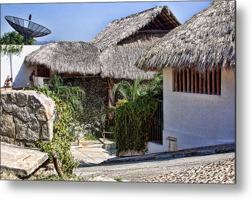 Travel Metal Print featuring the photograph Architecture With Thathed Roofs by Linda Phelps