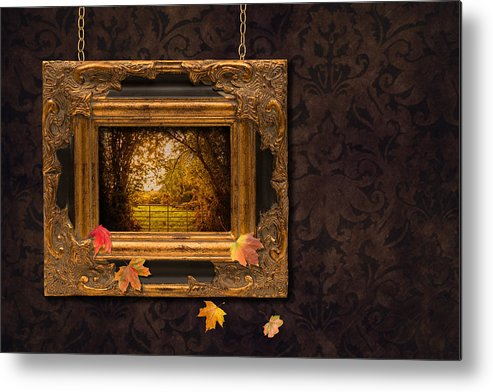 Autumn Metal Print featuring the photograph Autumn Frame by Amanda And Christopher Elwell
