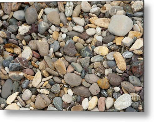 Ocean Metal Print featuring the photograph Beach Rocks by Artist and Photographer Laura Wrede