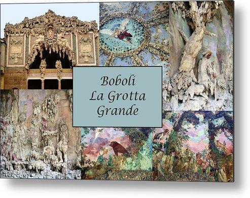 Boboli La Grotta Grande Metal Print featuring the photograph Boboli La Grotta Grande 1 by Ellen Henneke