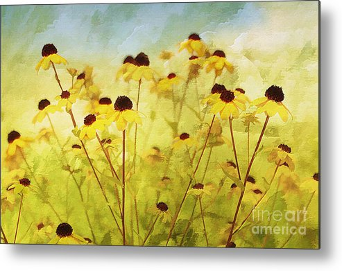 Flowers Metal Print featuring the photograph Breeze by Elaine Manley