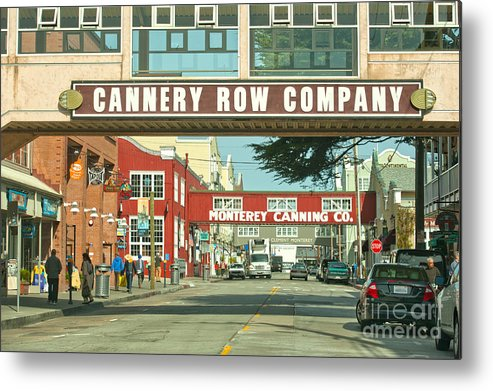 Monterey California Metal Print featuring the photograph Cannery Row Monterey California by Artist and Photographer Laura Wrede