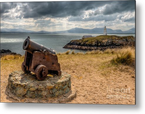 Anglesey Metal Print featuring the photograph Cannon At Llanddwyn by Adrian Evans